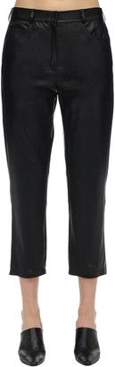 ZEYNEP ARCAY Mid Waist Cropped Leather Pants