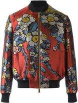 DSQUARED2 floral effect bomber