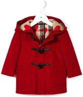 Burberry check detail duffle coat