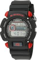 Casio Men's DW-9052-1C4CR G-Shock Black Watch with Red Pushers