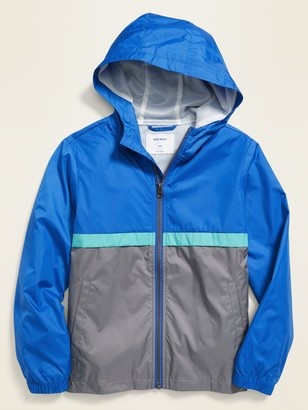Old Navy Water-Resistant Hooded Color-Blocked Windbreaker for Boys