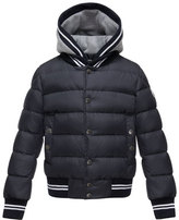 Moncler Auberie Tipped Puffer Jacket, Navy, Size 8-14
