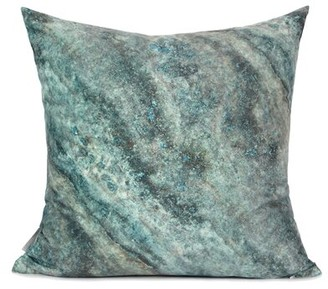 Green & Black Wrought Studio Dendy Galaxy Digital Printing Pillow Cover Wrought Studio Fill Material: Down/Feather, Color: Green/Black