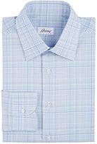 Brioni Men's Plaid Dress Shirt-LIGHT BLUE