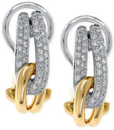 Effy Duo by Diamond Knot Two-Tone Earrings (1/3 ct. t.w.) in 14k White Gold and 14K Yellow Gold