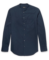 Giorgio Armani - Grandad-collar Garment-dyed Cotton-twill Shirt