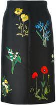 Stella McCartney floral embroidered skirt