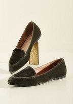 Yoki Fashion International Best of Velvet Loafer in Thyme