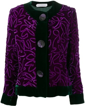 Givenchy Pre Owned 1980's Textured Jacket