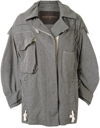 Louis Vuitton Pre-Owned Contrast Stripe Oversize Jacket