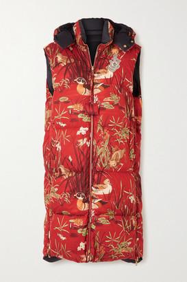 MONCLER GENIUS + 1 Jw Anderson Battersea Printed Cotton-shell Vest - Beige