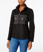 Karen Scott Fair Isle Fleece Active Jacket, Only at Macy's