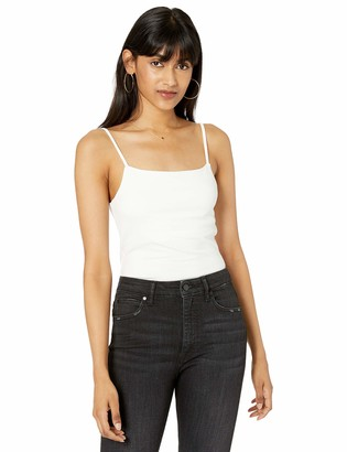The Drop Women's Cara Square Neck Cropped Strappy Tank Top
