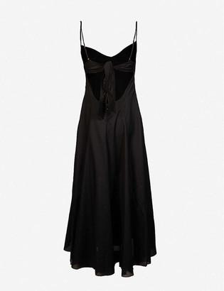 Three Graces London Carlota cotton midi dress