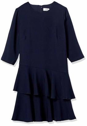 Eliza J Women's Size 3/4 Sleeve Dress with Tiered Ruffle Skirt