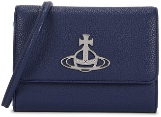 Vivienne Westwood Johanna Navy Faux Leather Cross-body Bag