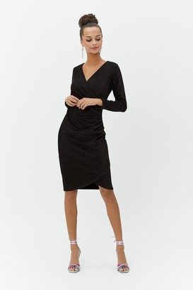 Coast Metallic Jersey Shift Dress