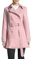 Kate Spade Flounce-Hem Double-Breasted Trench Coat