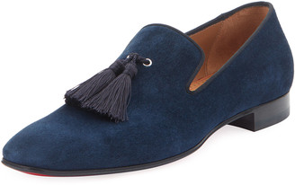 Christian Louboutin Men's Velour Suede Tassel Loafers