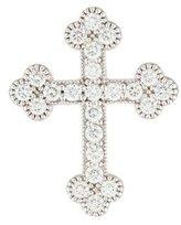 Jude Frances 18K Diamond Large Guinevere Cross Pendant