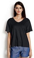 Lands' End Women's Slouchy V-neck T-shirt-Pale Rose