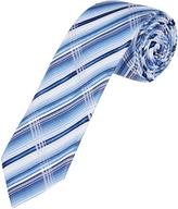 Oxford Silk Tie Plaid Lt Blue X