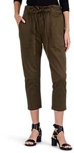 Current/Elliott Women's Tabloid Cotton Twill Crop Trousers - Green