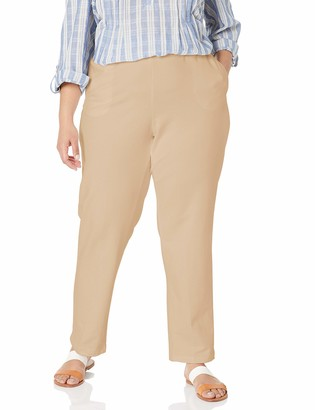 Ruby Rd. Women's Petite Pull-on Stretch French Terry Pants