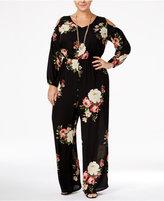 Love Squared Trendy Plus Size Cold-Shoulder Jumpsuit