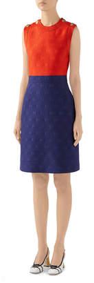 Gucci GG Wool-Silk Sleeveless Dress