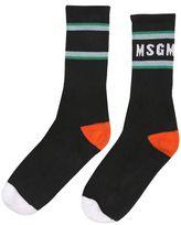 MSGM Logo Socks W/ Stripes
