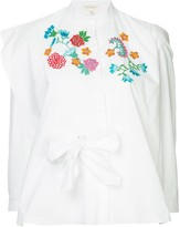 DELPOZO embroidered flower blouse