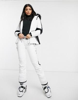 Dare 2b Dare2b x Julien Macdonald Ladyship ski pants in white