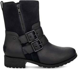 UGG Wilde Suede & Leather Combat Boots