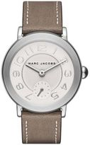 Marc Jacobs Riley Stainless Steel & Metallic Leather Strap Watch