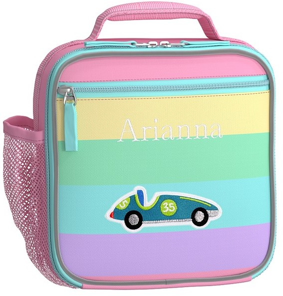Thumbnail for your product : Pottery Barn Kids Fairfax Pastel Pink Rainbow Stripe Lunch Boxes
