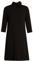 Goat Ava A-line wool-crepe dress