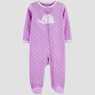 Carter's Baby Girls' Turtle One Piece Pajama - Just One You® made