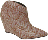 Michael Antonio Natural Snake-Print Chantal Wedge Bootie