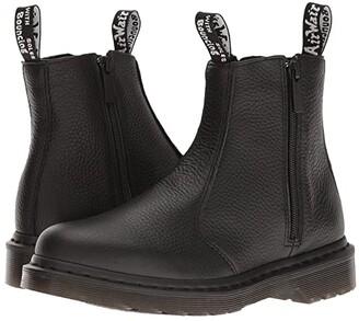 Dr. Martens 2976 w/ Zips (Black Milled Nappa) Women's Boots
