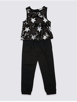 Marks and Spencer Star Sequin Jumpsuit (3-14 Years)