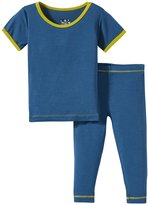 Kickee Pants Pajama Set (Baby) - Twilight/Citronella - 0-3 Months