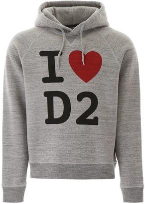 DSQUARED2 Slogan Printed Hoodie