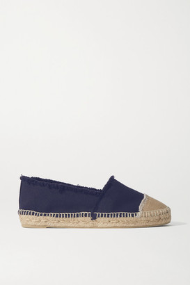 Castaner Kampala Frayed Canvas Espadrilles - Midnight blue