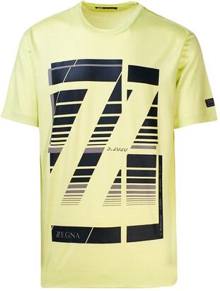 Ermenegildo Zegna T-Shirt Lana Stampa Nera