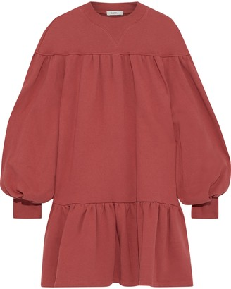 GOEN.J Gathered French Cotton-terry Mini Dress