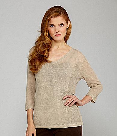 Nurture V-Neck Linen Sweater