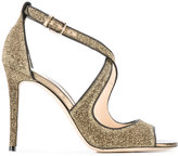 Jimmy Choo Emily 100 sandals - women - Leather/Polyester - 36
