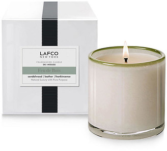 Lafco Inc. Signature 15.5 oz Candle - Feu De Bois white/gray