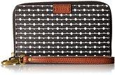 Fossil Emma Rfid Smartphone Wristlet Black Stripe Wallet
